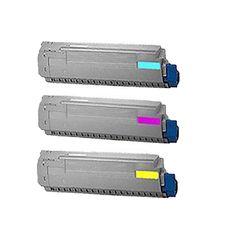 N 3PK Compatible 43324403 43324402 43324401 Toner Cartridge For OKI C5800