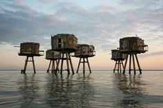 Maunsell Sea Forts, England.