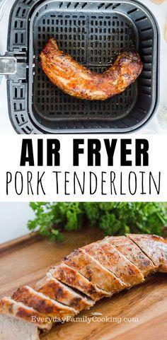 Air Fryer Recipes Pork, Air Fry Recipes, Air Fryer Dinner Recipes, Pork Recipes, Cooking Recipes, Salmon Recipes, Air Fried Food, Air Fryer Healthy, Gastronomia
