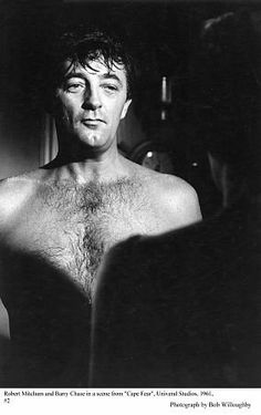 Cape Fear (1961) with the dark and menacing Robert Mitchum playing suspenseful mind games with Gregory Peck.