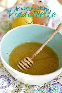 Amazing combination of flavors in this Honey Mustard Vinaigrette!