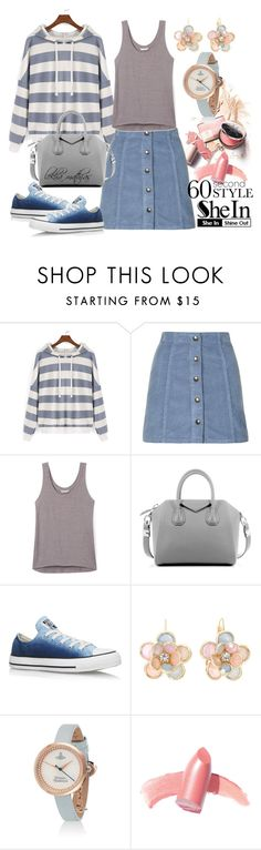 """NEW SHEIN CONTEST: **Crop Sweatshirt**"" by lekhamathias ❤ liked on Polyvore featuring Topshop, Rebecca Minkoff, Givenchy, Converse, Mixit, Elizabeth Arden, contestentry, lekhamathias and shein"
