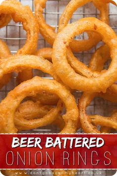 Tasty Videos, Food Videos, Recipe Videos, Onion Recipes, Indian Food Recipes, Ethnic Recipes, Beer Battered Onion Rings, Baked Onion Rings, Easy Onion Rings Recipe