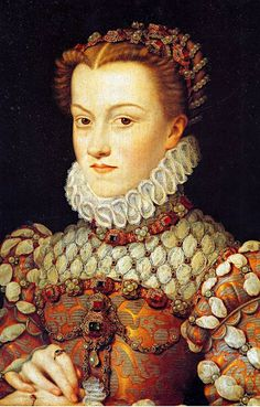 ELISABETH D' AUTRICHE (1554–1592) Queen of France [1571] wife of CHARLES IX / by CLOUET François - French (Tours circa 1515-1572 Paris) -