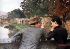 """Émile Friant. """"Les amoureux."""" 1889"""