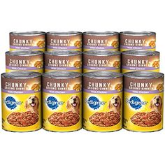 PEDIGREE Meaty Ground Dinner With Chunky Chicken Canned Dog Food 22 Ounces (Pack of 12) --- You could get more details by clicking on the image. (This is an affiliate link and I receive a commission for the sales)