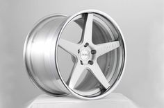 ADV5 Standard Concave 3 Piece Forged Wheel with Brushed Face and Polished Lip
