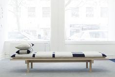 DIVAN - Daybed with hand embroidered mattress | by Danish textile designer Margrethe Odgaard in collaboration with furniture designer Christina Liljenberg Halstrøm