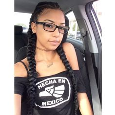 Dope Hair Style Double Side Braid Fishtail Plait African American Black Women Hairstyle Cute Ashley Awebbb