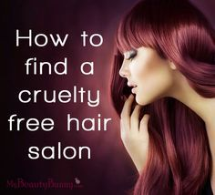 Click for tips to help you find a cruelty free hair salon in your area. #hair #crueltyfree #beauty