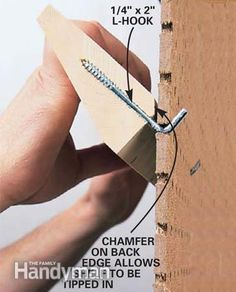 DIY strong sturdy shelves on peg boards for organizing tools or whatever you need!
