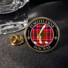 MacRae Scottish Clan Crest Lapel Pin Badge | eBay