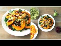 Healthy Vegan Comfort Food - Roasted Pumpkin Quinoa Salad with Mint and Pea Pesto - https://www.youtube.com/watch?v=HnO2ZHGScPc