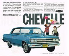 1965 Chevrolet Chevelle Malibu SS Ad Photo Picture