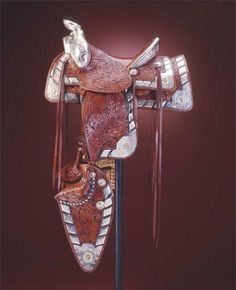 this western saddle is a work of art