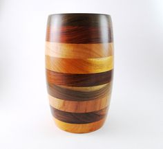 Segmented Exotic Woods cup/vase