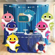 Decoracion Baby Shark Niño - Baby shark - Welcome Baby Baby Boy Birthday, Boy Birthday Parties, 2nd Birthday, Birthday Ideas, Shark Party Decorations, Baby Shark Doo Doo, Family Birthdays, Statistics, Habitats