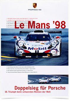 Poster Carros Porsche Le Mans 98 - Comprar em Decor10