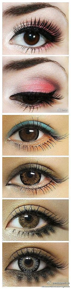 different eye colors, different palatte