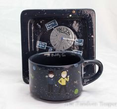 Hand-painted Star Trek mocha cup & saucer