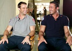 Jesse Spencer and Taylor Kinney - Chicago Fire