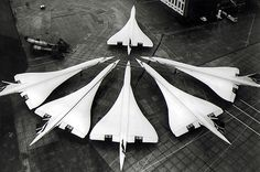 Concorde, fastest commercial airliner ever, short lived commercial success, now just museum pieces.