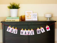Printable Valentine's Day Garland by Sarah Hearts