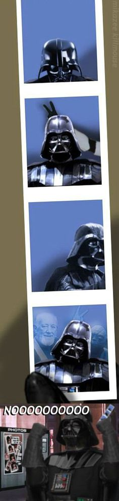 Darth Vader Photo Booth Pics