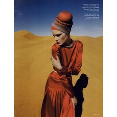 Tatler Editorial Desert Storm, March 2011 Shot #3 ❤ liked on Polyvore featuring models, backgrounds, editorials and olga serova