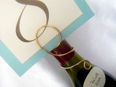 Wine Table Name & Number Holder, Wedding Decorations, Bridal Shower, Rehearsal Dinner, Parties, 3pcs on Etsy, $18.75