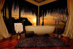Bathroom renovations are also cost efficient and also money's worth as it adds more value to your home and you will definitely get a little more selling value for it. Romantic Bath, Romantic Evening, Jacuzzi, Home Design Decor, House Design, Home Decor, Design Ideas, Tropical Bathroom, Outdoor Baths