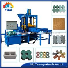 Automatic pression widely electrical hollow sand used paver blocks brick cement paver full paving concrete block making machine