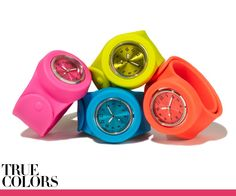 I heart slap watches.  They bring me back to my childhood...slap bracelets were my addiction when I was 5.