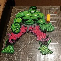 Incredible Hulk perler bead sprite by stizz1e