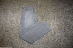 """New without tags  CAbi Lou Lou Jeans Straight Leg Smoke Gray Denim Jeans #332 Size 10 99% Cotton and 1% Spandex Waist 34"""" and Inseam 32 3/4""""  Returns accepted if not 100% satisfied ( No hassle return policy)  *Returned in same condition you received it in.  *I pay for returned shipping if it is my fault  *If it is your fault you pay for returned Shipping    FAST SHIPPING!!!"""