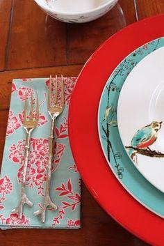 Rattlebridge Farm: Romancing the Plate. Lenox Chirp China.