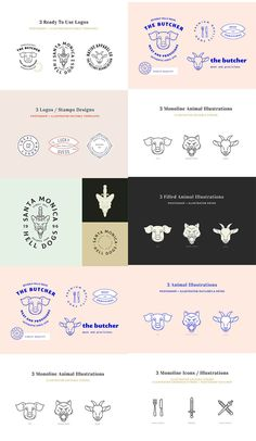 The freebie of the day is a new logo design kit that combines the new and modern designs with that cool vintage. Photoshop 8, Photoshop Design, Brand Identity Design, Branding Design, Logo Design, 3 Logo, Logo Stamp, Templates, Illustration