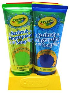 Crayola Bathtub Fingerpaint Soap 6 Ounce Assorted 6 Pieces Display 177ml ** Click image for more details. (This is an affiliate link) #BodyCleansers