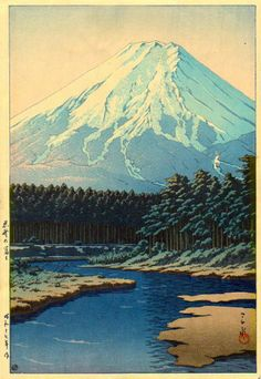 Mt. Fuji Seen from Oshino, by Kawase Hasui