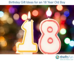 This guide contains birthday gift ideas for an 18 year old boy. A young adult man has developed his interests and can benefit from a lot of different kinds of gifts.