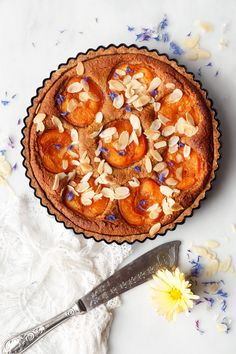 Tart Recipes, Healthy Cake Recipes, Healthy Treats, Baking Recipes, Frangipane Tart, Apricot Cake, Protein Cake, Vegan Baking, Vegan Food