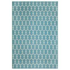 Trellis Light Blue Indoor/Outdoor Rug (7'10 x 10'10) | Overstock.com Shopping - The Best Deals on 7x9 - 10x14 Rugs