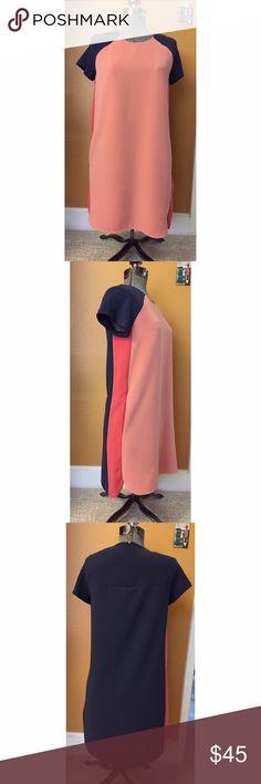 NWT Banana Republic Colorblock Shift Dress Sz 0 NWT. Banana Republic colorblock shift dress with pockets and scoop side details. Sz 0 Banana Republic Dresses
