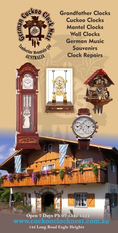 The German Cuckoo Clock Nest, built in the tradition of a German Bavarian Chalet with authentic waterwheel, has become one of the most famous tourist attractions on Tamborine Mountain; a magical place situated in the Gold Coast hinterland, Australia.