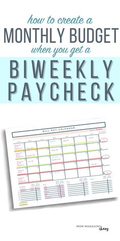 Are you struggling with how to budget your bi weekly paychecks and pay monthly bills? Learn how to create a monthly budget that works with your every other week paychecks. Monthly Budget | Budgeting Money | Budgeting Finances | Managing your Money Budget Spreadsheet, Budget Binder, Budget Planner, Weekly Budget Template, Monthly Budget, Making A Budget, Create A Budget, Budgeting Finances, Budgeting Tips