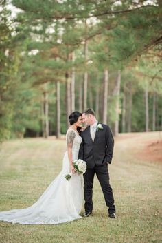 Completely DIY backyard wedding in Alabama. The couple got married in their new home with lots of personal details. Budget Wedding Inspiration, Wedding Planning On A Budget, Wedding Suits, Wedding Gowns, Our Wedding, Navy Flowers, Real Flowers, Groom Tux, Couple Shots