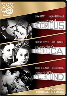 Hitchcock Triple Feature (Notorious, Rebecca, Spellbound) MGM 90th Anniversary   #FreedomOfArt  Join us, SUBMIT your Arts and start your Arts Store   https://playthemove.com/SignUp