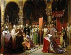The Second Crusade is at hand! Louis VII taking the banner at St Denis.