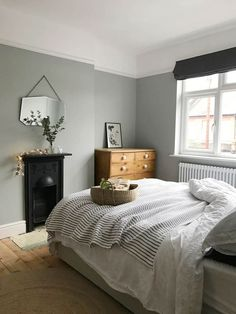 My bedroom update – Apartment Apothecary, green gray walls, sage green bedroom