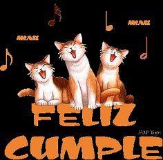 Gatos cantándote la canción de Feliz Cumpleaños - ツ Imagenes y Tarjetas para Felicitar en Cumpleaños ツ